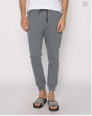 Smoke Grey Melange Round Pocket Jogger