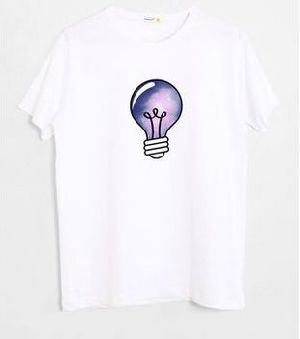 Space Bulb Half Sleeve T-Shirt