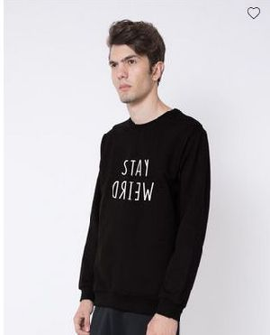 Stay Weird Crew Neck Sweatshirt