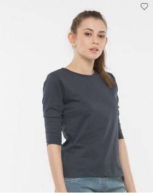 Stone Grey Round Neck T-Shirt