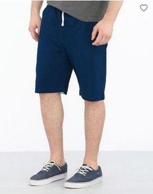 Sydney Blue-White Pique Contrast Panelled Shorts