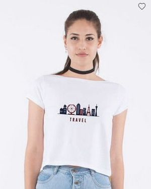 Travel Pique Cropped Top