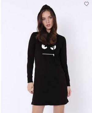 Zip It Fleece Hoodie Dress