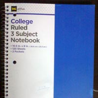 3 Subject Ruled Notebooks