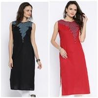 Camric Cotton Kurti with Embroidery