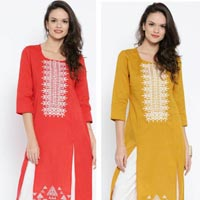 Cotton Flex Kurti with Embroidery