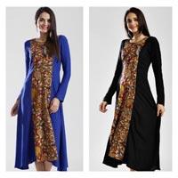 Kalamkari Fusion Wear Long Dress