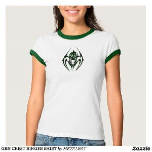 Ladies GRN Crest Ringer T-Shirts