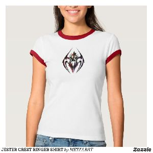 Ladies Jester Crest Ringer T-Shirts