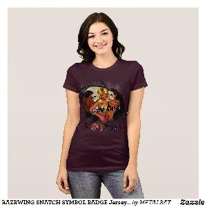 Ladies Snatch Symbol Badge Bella T-Shirts