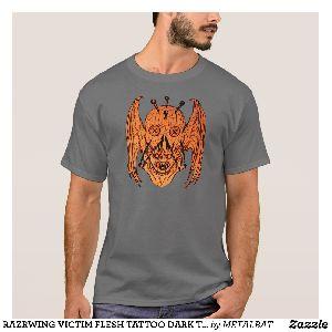 Mens Flesh Tattoo Dark T -Shirts
