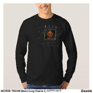 Mens Seeker Theme Basic Long Sleeve T-Shirts