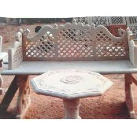 Sandstone Garden Table Set