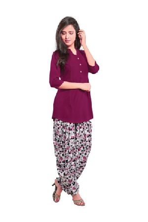 BB-507 Ladies Patiala Salwar and Short Kurti Set