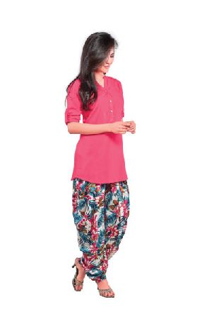 BB-508 Ladies Patiala Salwar and Short Kurti Set