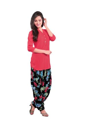 BB-509 Ladies Patiala Salwar and Short Kurti Set