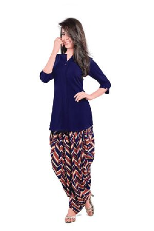 BB-513 Ladies Patiala Salwar and Short Kurti Set
