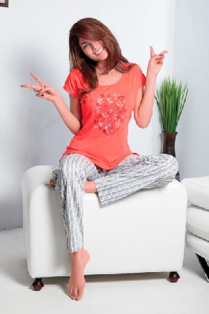 JL-PJ-15858 Ladies T-Shirt and Pyjama Set
