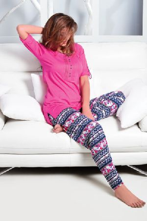 JL-PJ-16197 Ladies T-Shirt and Pyjama Set