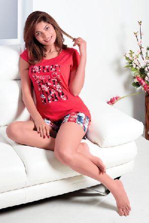 JL-ST-15933 Ladies T-Shirt and Shorts Set