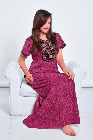 SLC-30322 Ladies Embroidered Nighty