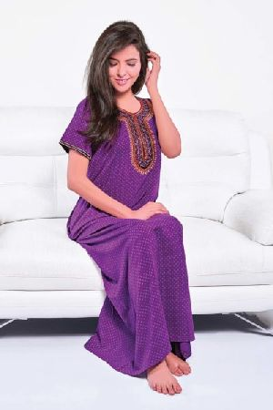 SNC-30628 Ladies Embroidered Nighty