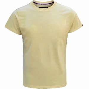 Mens Plain Round Neck T-Shirt 01
