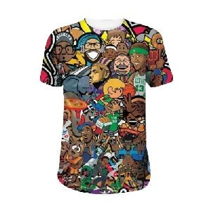Mens Printed Round Neck T-Shirts