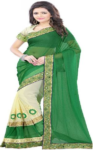 Georgette And Lycra Sarees
