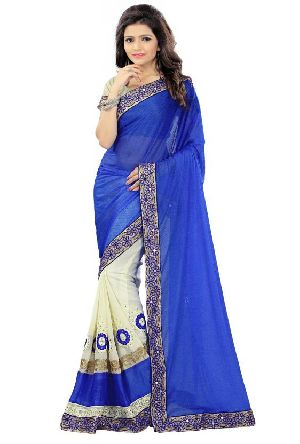 Georgette Lycra Indian Sarees