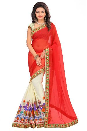 Georgette Red Sarees
