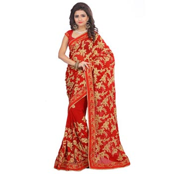 Heavy Georgette Festival Wear Sarees