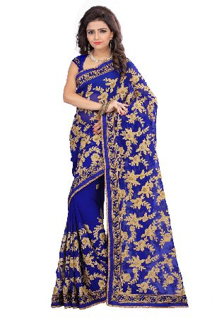 Surat Embroidered Sarees
