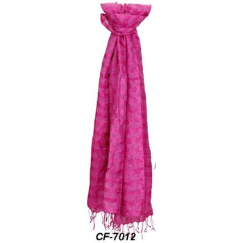 CF-7012 Silk & Linen Scarf