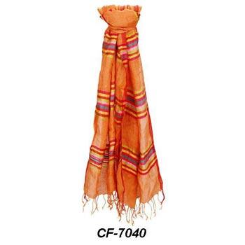 CF-7040 Silk & Linen Scarf