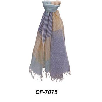 CF-7075 Cotton & Linen Scarf