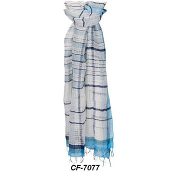 CF-7077 Cotton & Linen Scarf