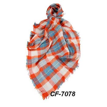 CF-7078 Cotton & Linen Scarf