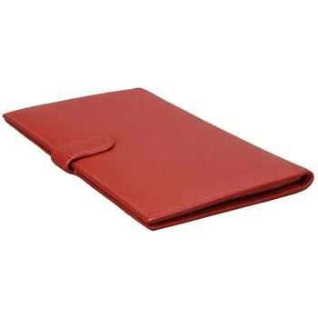 L-5074 B Card Case Nappa Leather - Red