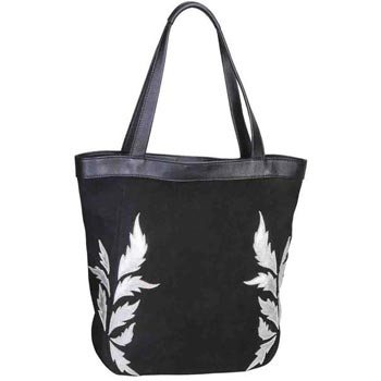 L-5181 Hand Bag Suede & Nappa Leather - Black