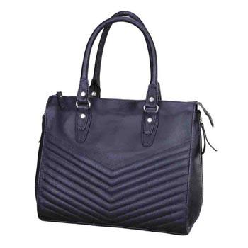 L-5182 Hand Bag Nappa Leather - Black