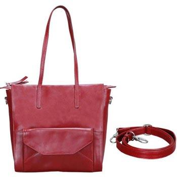 L-5212 Ladies Shoulder Bag Soft Vt Leather cognac Colour
