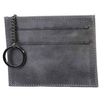 L-5327  Card Case Distress Leather - Petrol
