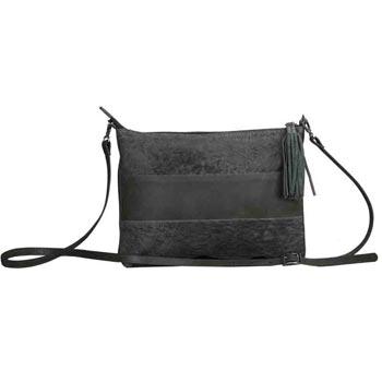 L-5355 Unisex Bag Gavi & Distress Leather - Petrol colour