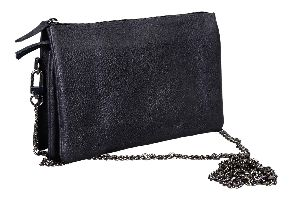 L-5929 B Small Shoulder Bag - Black Nappa Leather