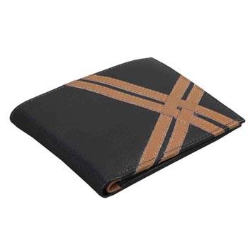 L-5972 Mens Wallet  Nappa Leather Dark & Light Brown