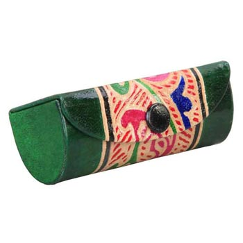 L-9243 A Shanti Leather Single Lipstick Case