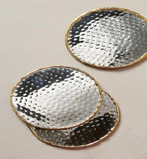 Hammered Brass Coaster