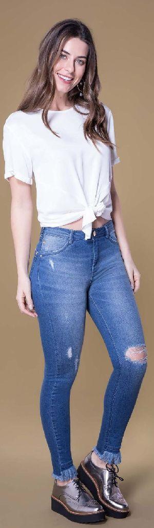 8645 - Ladies Caminito Denim Jeans 01