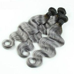 Non Remy Natural Gray Hair